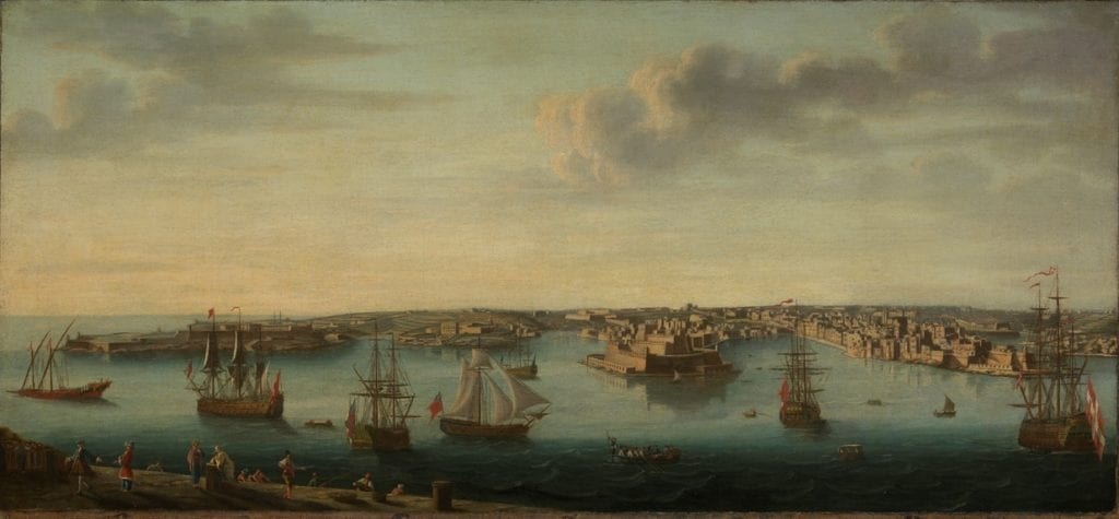 the-Grand-Harbour-as-depicted-in-1750