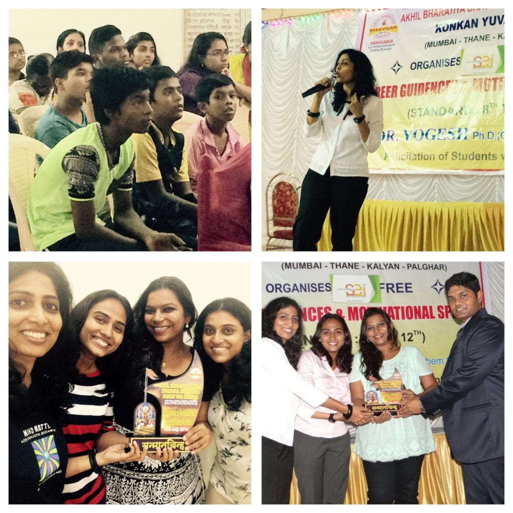 Conducted career counselling based lecture with my team- Fiona, Geeta, Priya, Parel, Mumbai