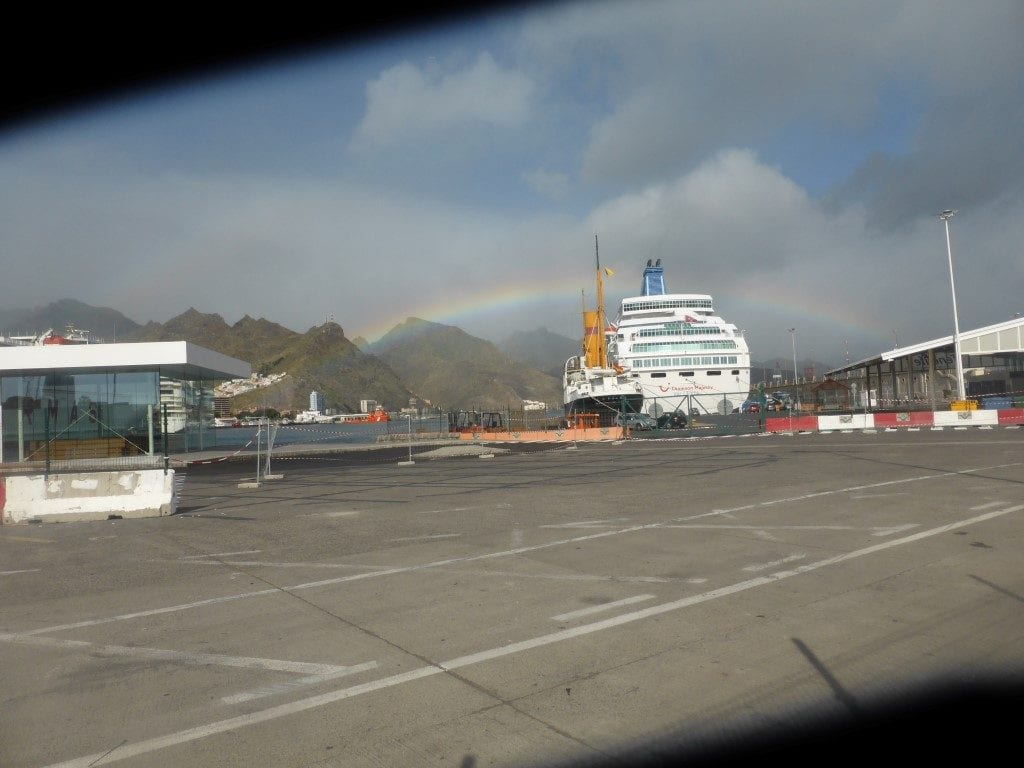 Thomson's Majesty in Teneriffe with rainbow