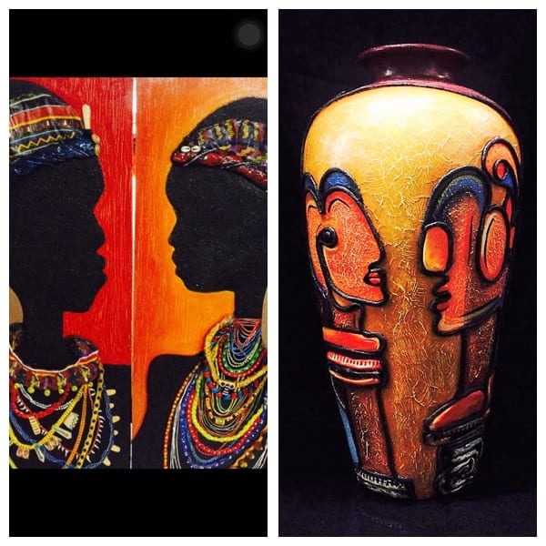 Murals and decorative pots from ArtIdeaz Studio