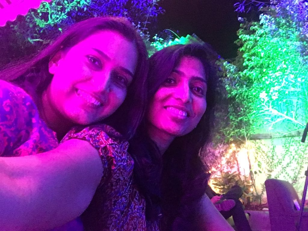 My friend Dhwani Gandhi and me enjoying the event.