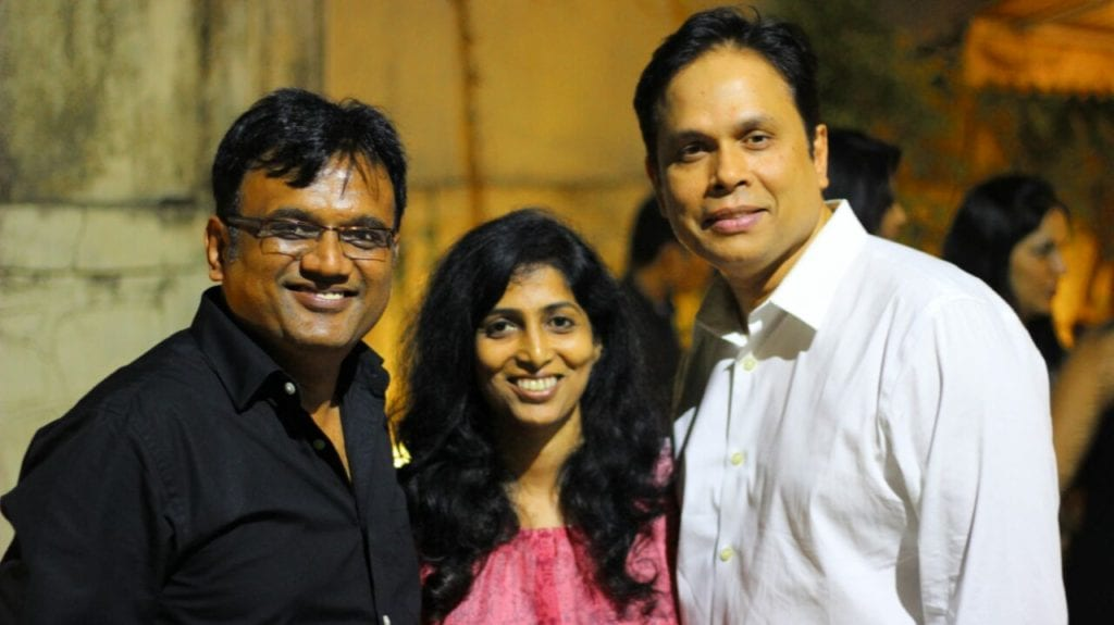 (L-R) Pramod Chandorkar and Tirthankar Das (Owners of Sound Ideaz Academy) with me.