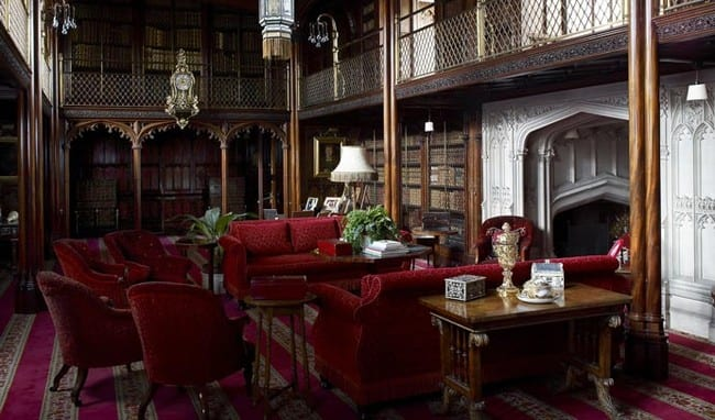 The library at Arundel castle where ghosts have been seen