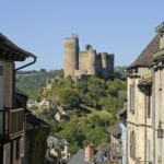 2. The castle from the village of Najac