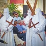 MalDia 02 26 04 17 Penitents and those who have made vows presented the solemn side of Easter.