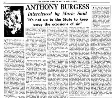 an essay on censorship anthony burgess