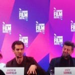 Andrew Garfield and Andy Serkis promoting Breathe