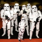 Pic 1 A Mini Stormtrooper meets some of the UK Garrisons army