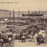 MalDia 01 05 06 19 Mgarr Harbour in Gozo at the turn of the 19th and 20th Centuries teeming with luzzus horses donkeys and carts and of course people