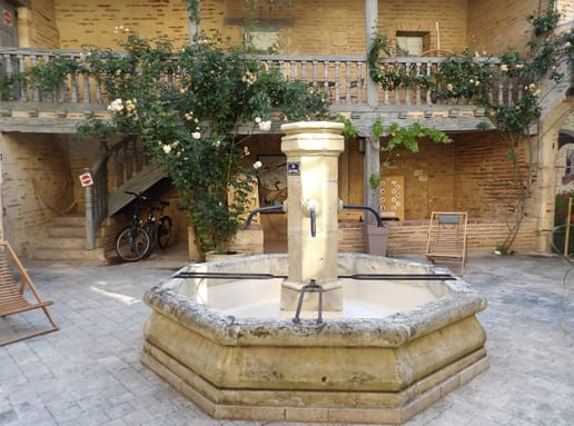 The fountain of the Prince Noirs house
