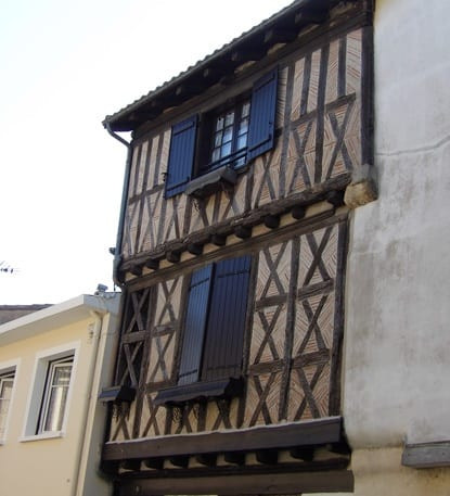Timbered facade in Marmande