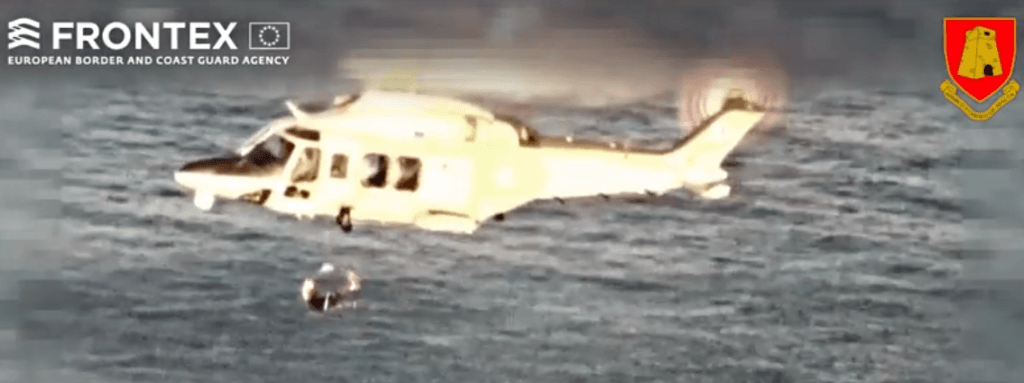 MalDia Sole survivor hauled to safety by Maltas Armed Forces