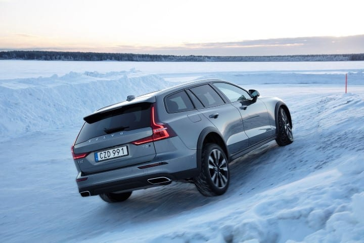 Volvo V Cross Country T AWD at the Obstacle Course in Lule Sweden