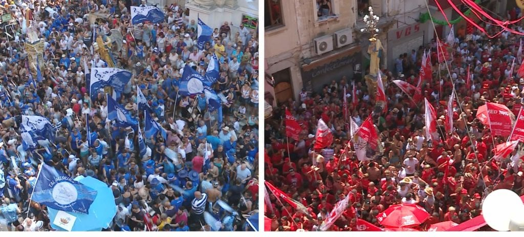 MalDia The town of Hamrun famed for its blue and red rival bands