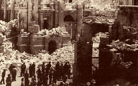 MalDia Malta suffered devastating damages from Axis bombing in