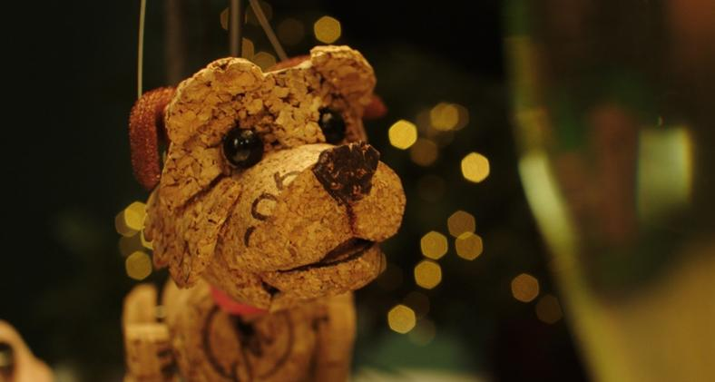Pic Dogs Trust Christmas advert with Corky the puppet dog