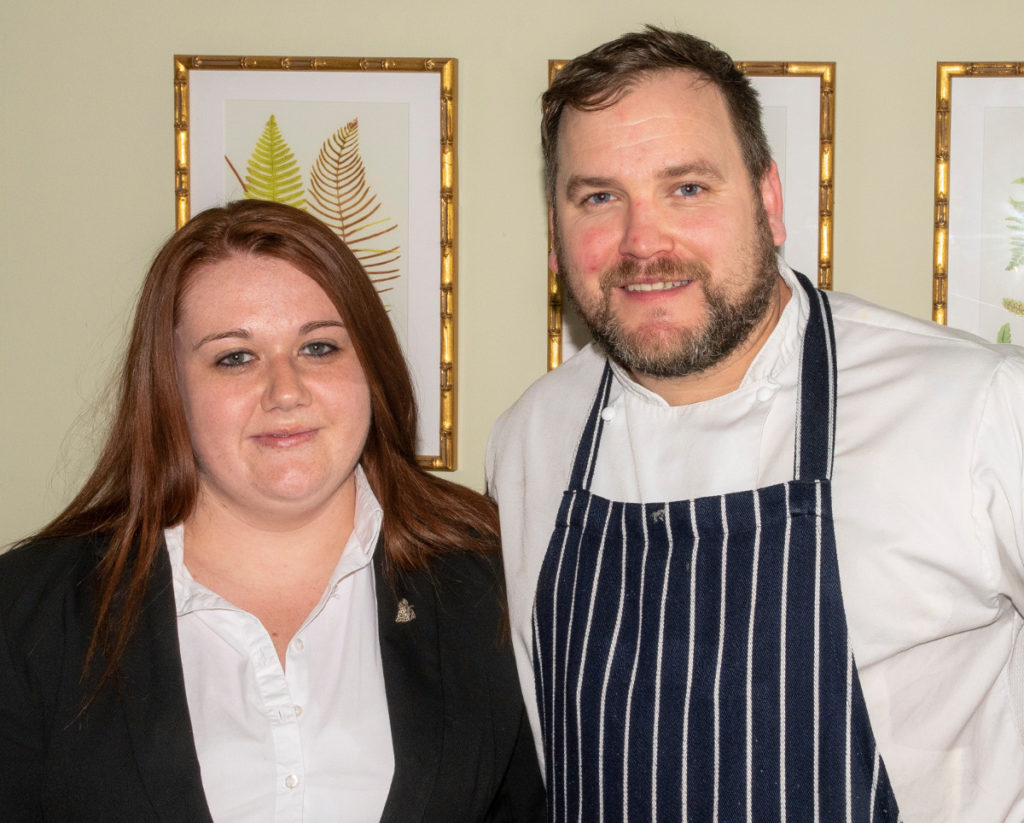 Pic Sommelier and restaurant manager Ediua Szabo with Head Chef Gareth Hawcroft