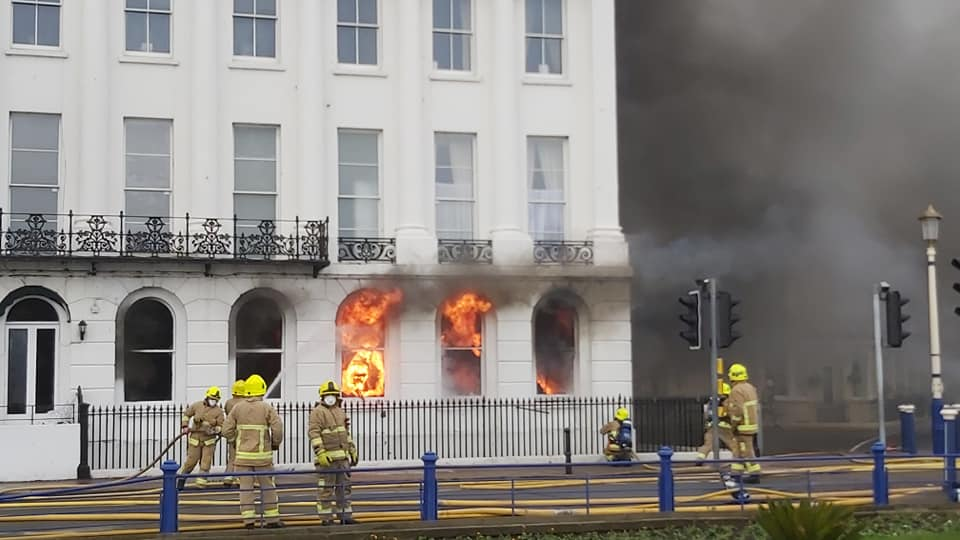 it didnt take long before fire was seated