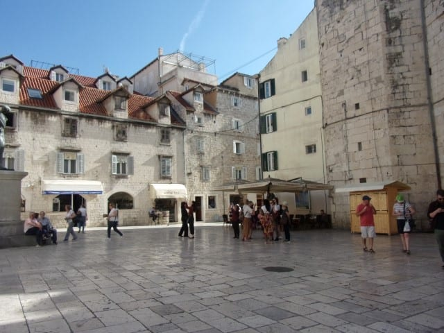 lovely square where we had coffee
