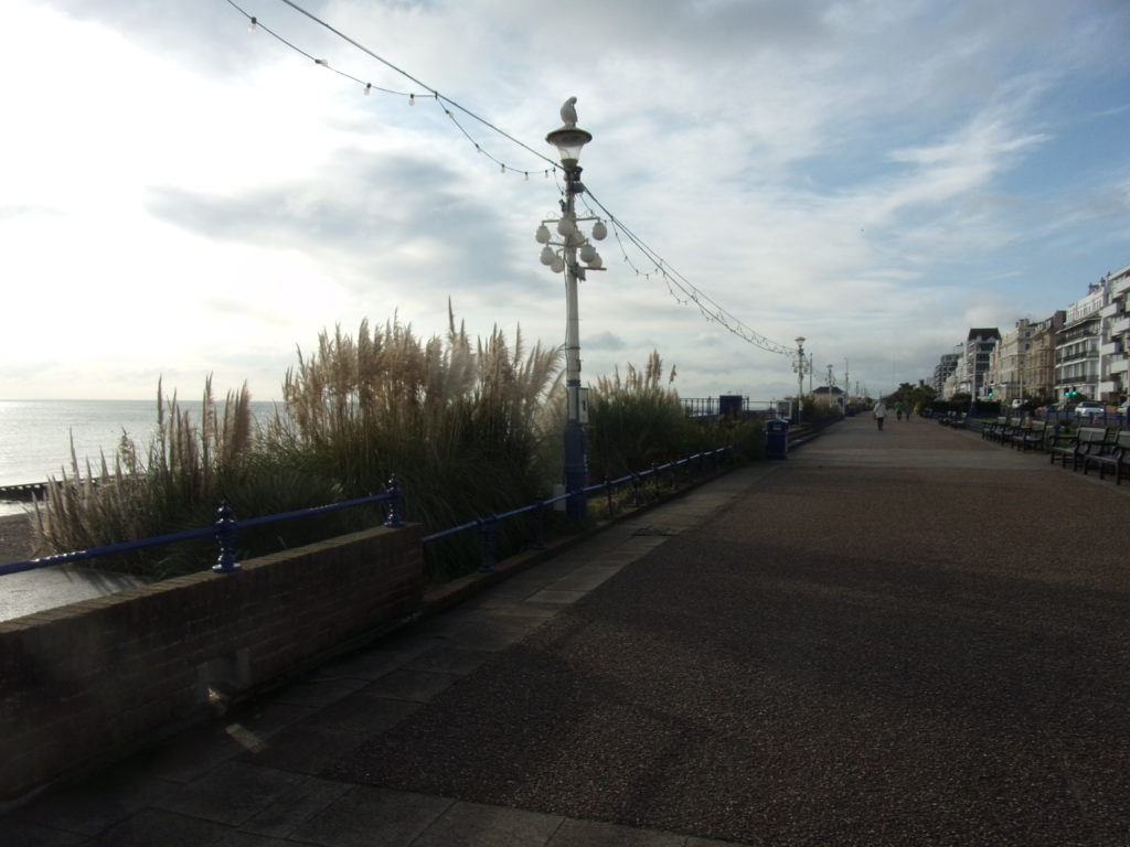 not many about on a seafront stroll