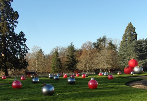 Christmas decorations in the gardens
