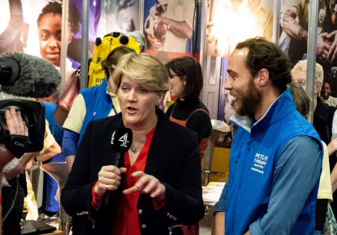 Pic Claire Baldwin with Pets as Therapy representative at last years show