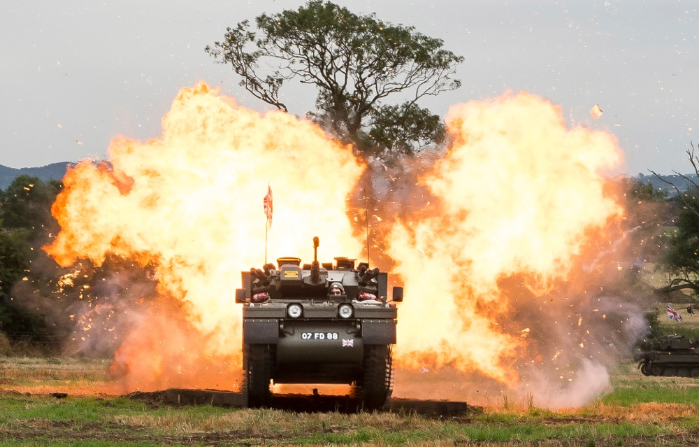 Pic Explosions at the Tanks Trucks and Firepower Show