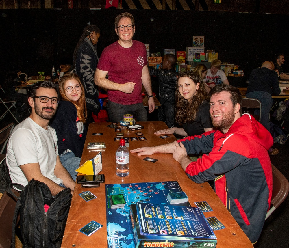 Pic Richard of Chance and Counters with some board game players