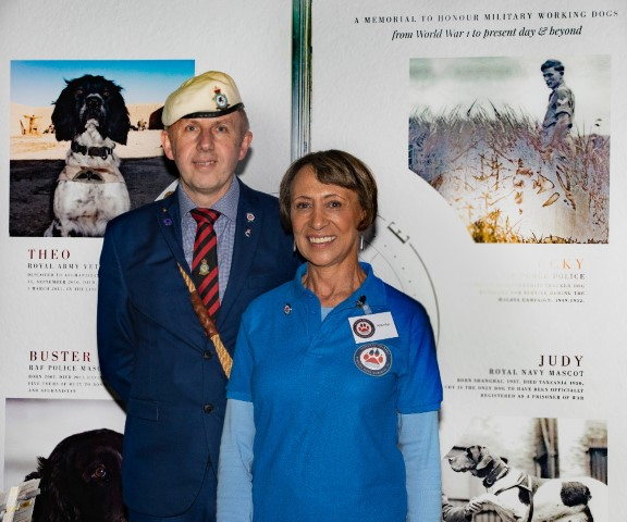 Pic Iain Henderson and Marilys Wilson National Military Working Dog Memorial UK at the show