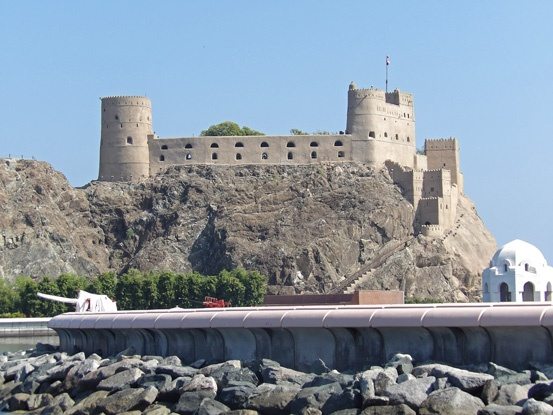 One of the numerous forts of Muscat