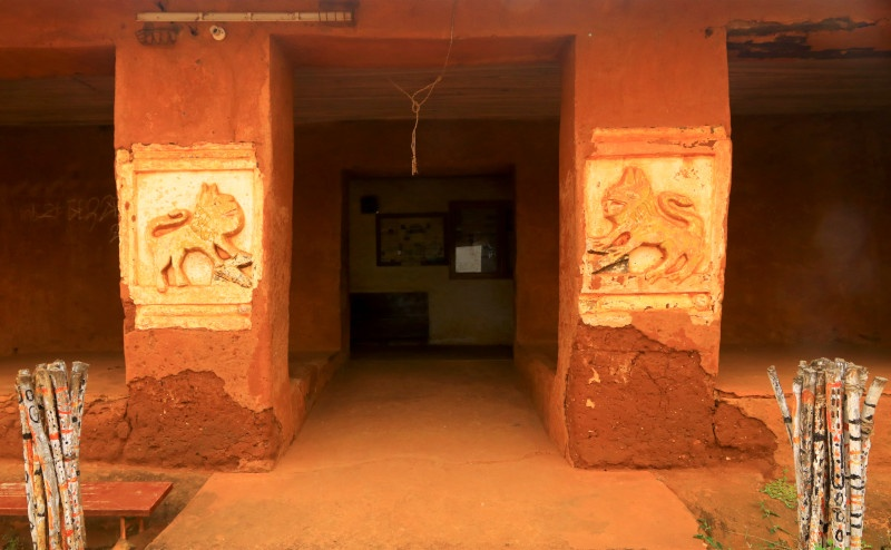 Main entrance to the Palace complex Abomey