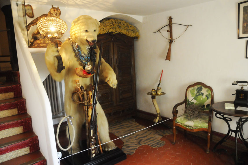 The entrance room in Portlligat Dalis house