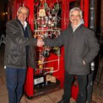 Pic 1. L R Richard Simmons owner of the MAD Museum and Swiss kinetic sculptor Pascal Bettex