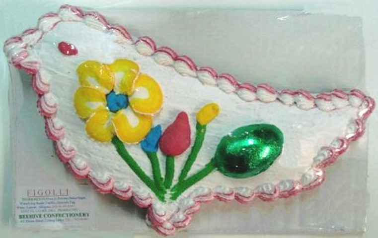 MalDia An Easter Day figolla for children marzipan base covered with icing