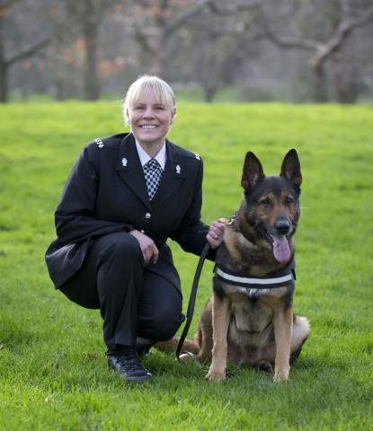Pic PC Louise McMullen and Wolfie