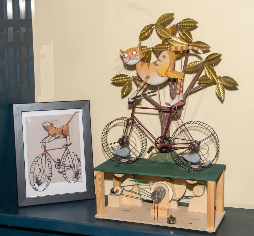 Pic Cat on a Bicycle by Keith Newstead