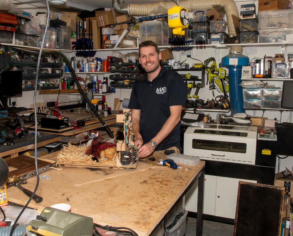 Pic Mike Abbotts in the MAD workshop