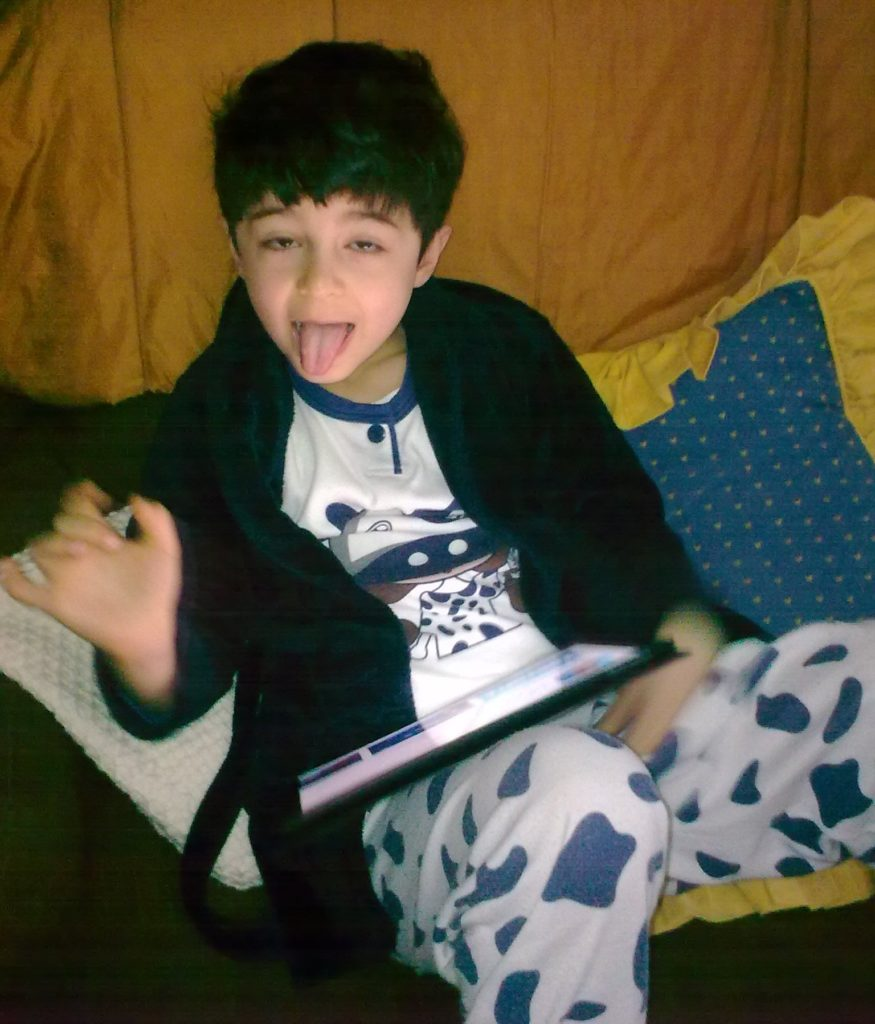 MalDia Grandson Gabriel expresses his opinion of all our yesterdays