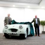 Pic 1. TR2 Prototype with Kevin Timms Chairman of the BMIHT and David Stocker Trustee of the NHMF