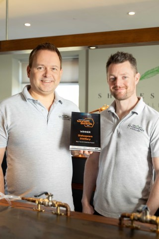 Pic Shakespeare Distillery winners Peter Monks and Simon Picken