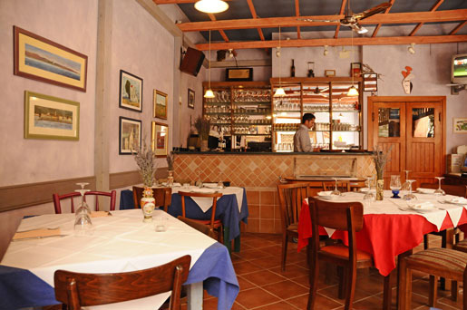 The restaurant Pelagos simple decoration but so great food