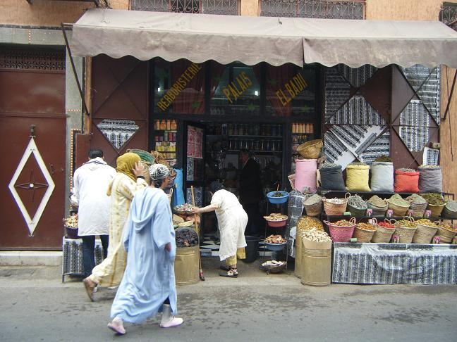 MalDia Herbs and spices in Marrakesh and an ill fated massage