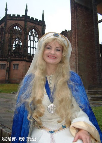 Pic Ambassador for the city Pru Poretta MBE is the official Lady Godiva