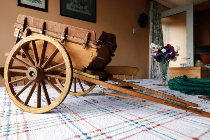 Farm Tip Cart on dining room table