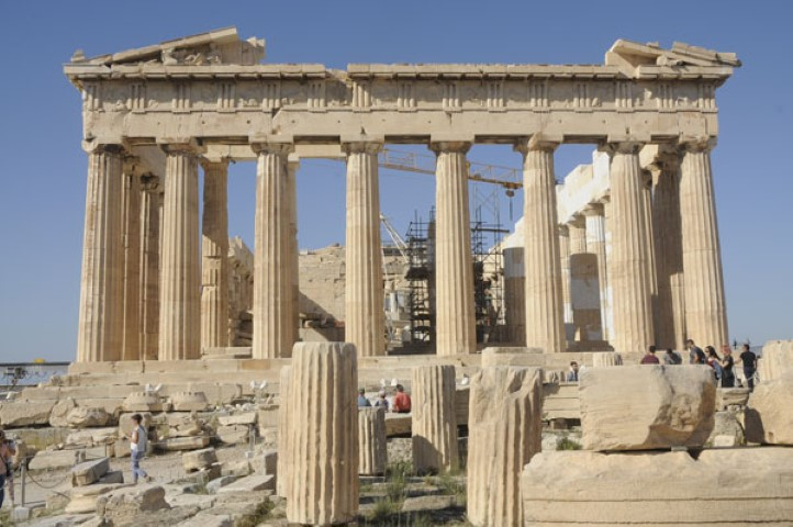 Acropolis and Parthenon with less tourists than ever