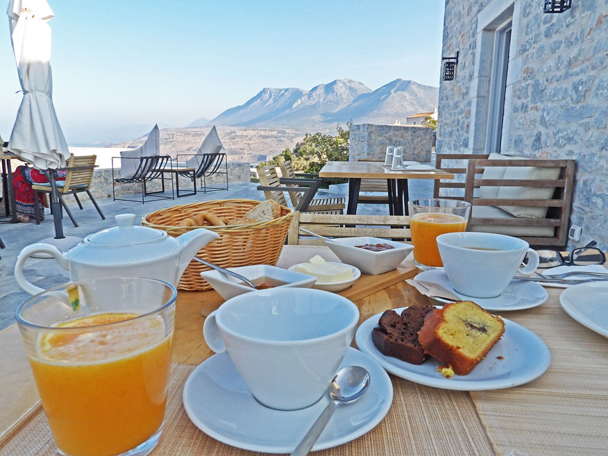 Scrumptious breakfast with a view