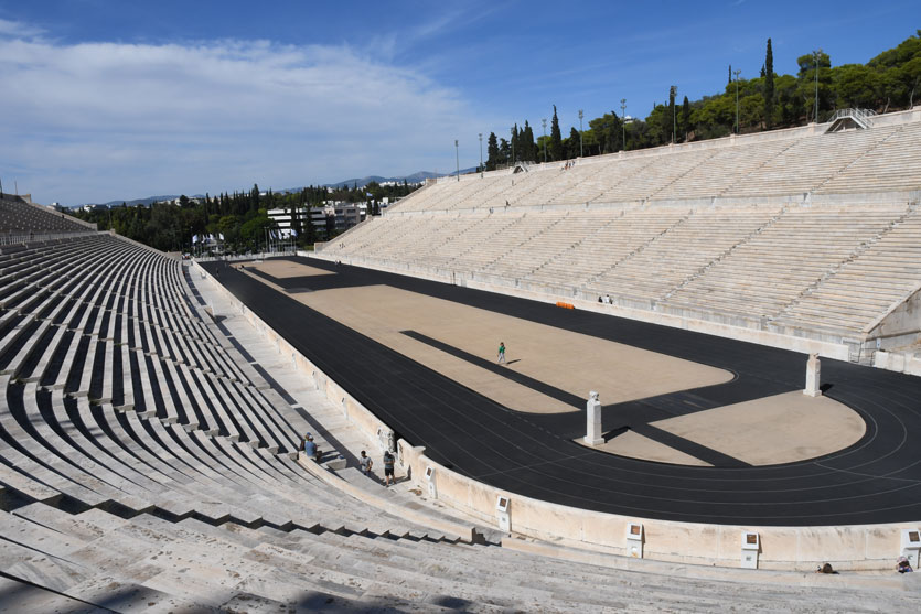 The ancient marble Olympic stadium