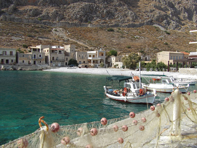 Charming Gerolimenas fishing port