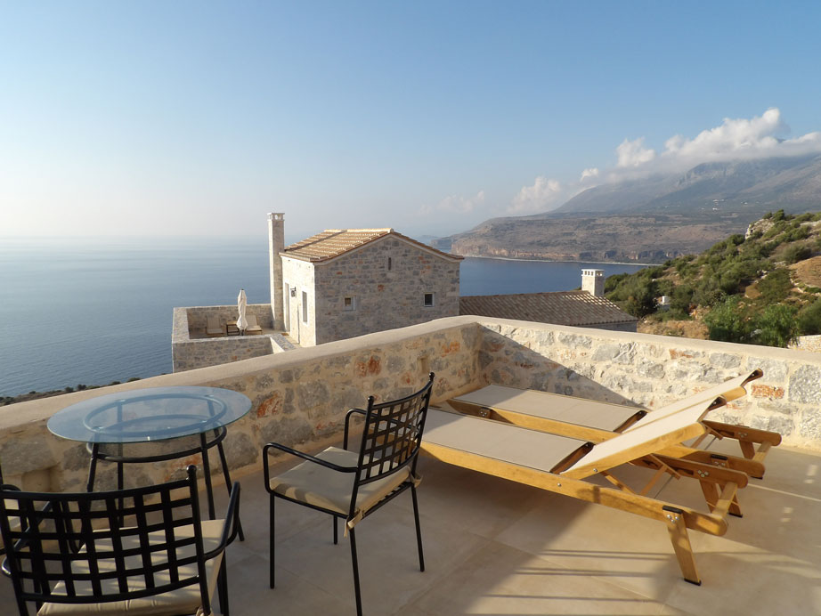 Private terrace of our stylish suite
