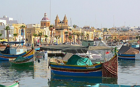 MalDia Marsaxlokk Harbour home port for lampuki fishing fleet